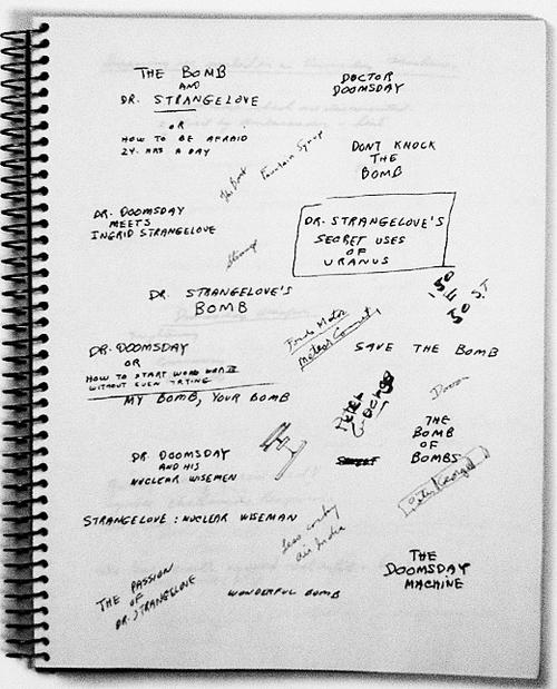 Stanley Kubrick Dr Strangelove notebook Holy Kaw