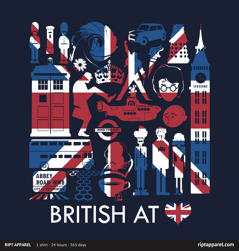 British at Heart T-shirt from Ript