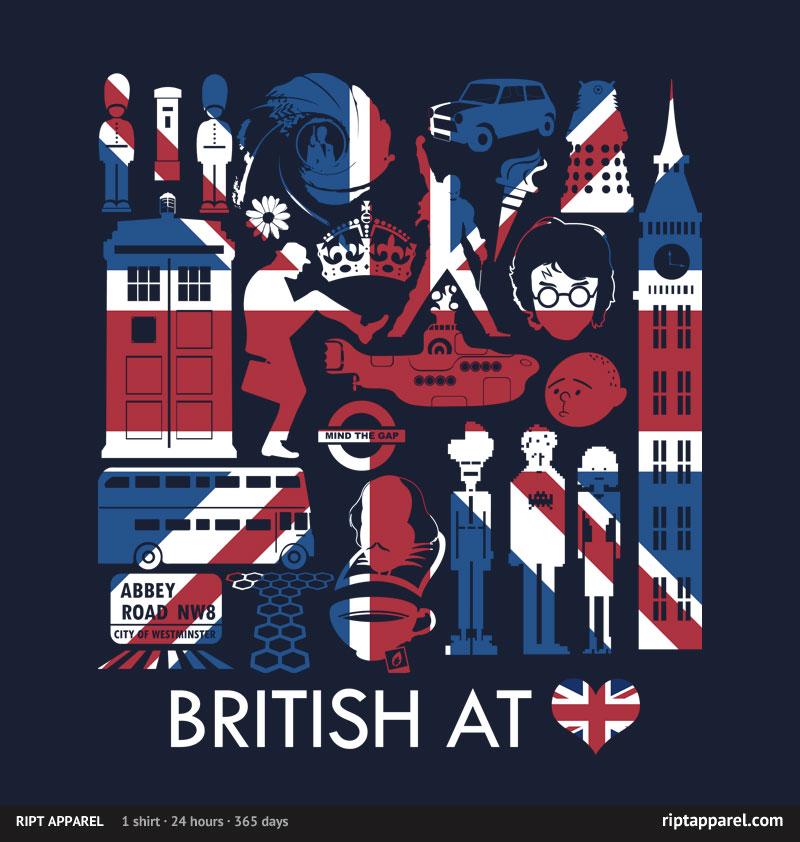 British at Heart T-shirt from Ript