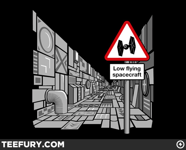 Low Flying Spacecraft TeeFury