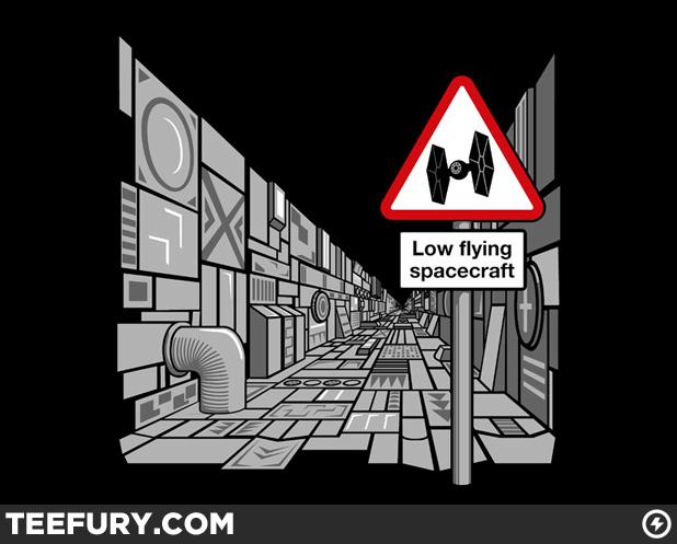 Low Flying Spacecraft TeeFury