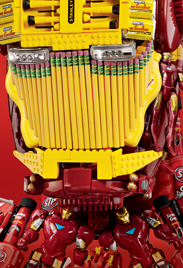 Iron Man assembled from pencils etc Target