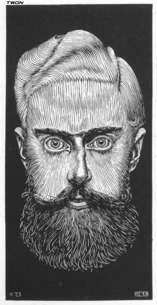 MC Escher self-portrait 1923