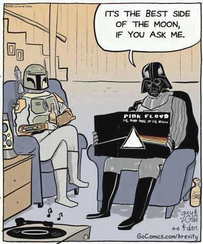 Darth Vader Boba Fett Dark Side ofthe Moon