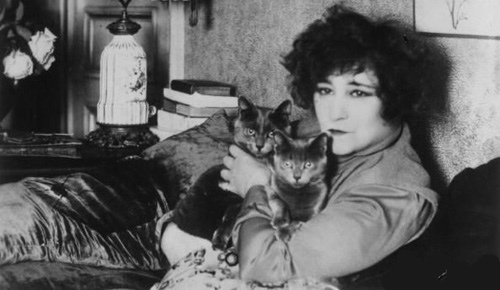 Colette with cats