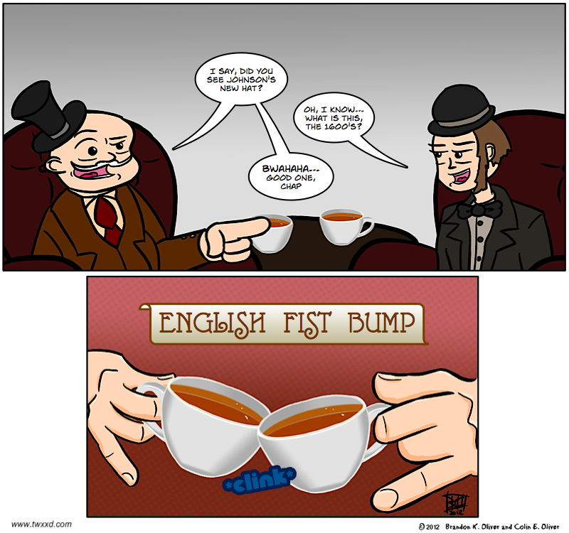 English fist bump corrected