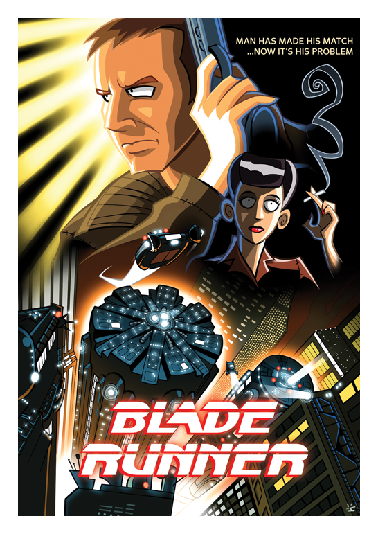 Blade Runner cartoon poster