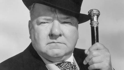 WC Fields with top hat and cane