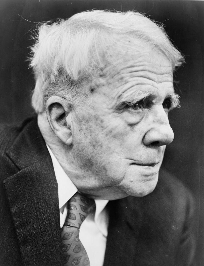 Robert Frost profile scar