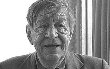 W H Auden smiling Telegraph
