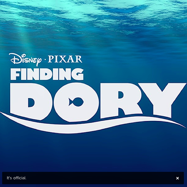 Finding Dory announcement poster