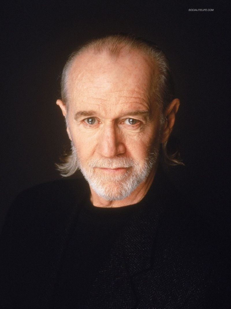 George Carlin black shirt
