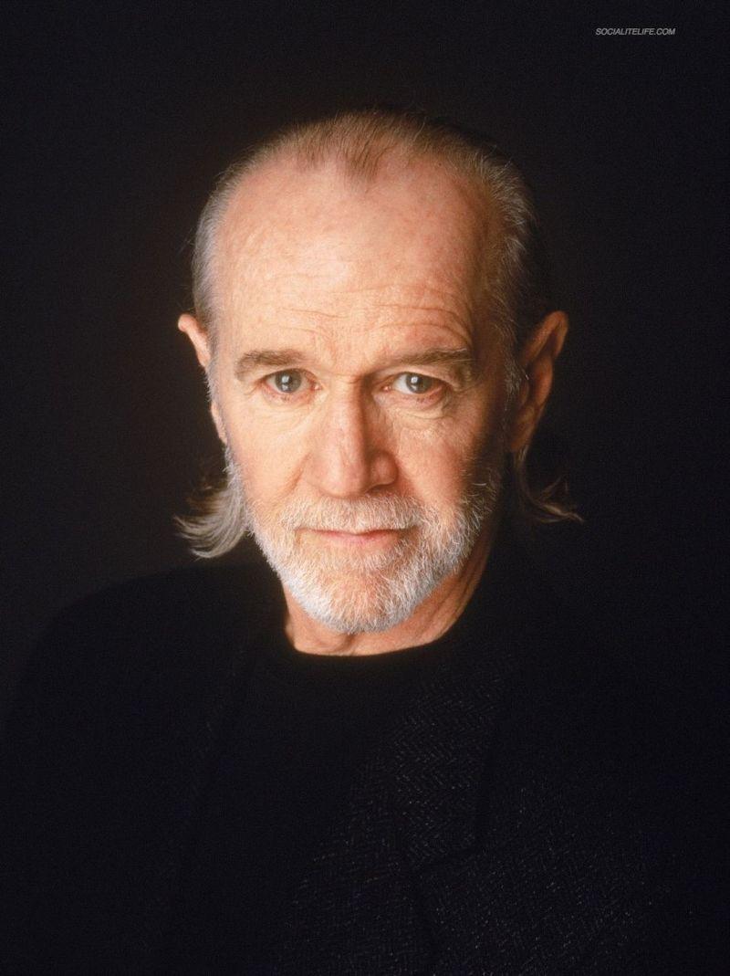 George Carlin black shirt