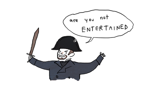 Are you not entertained russell crowe Les miserable gingerhaze