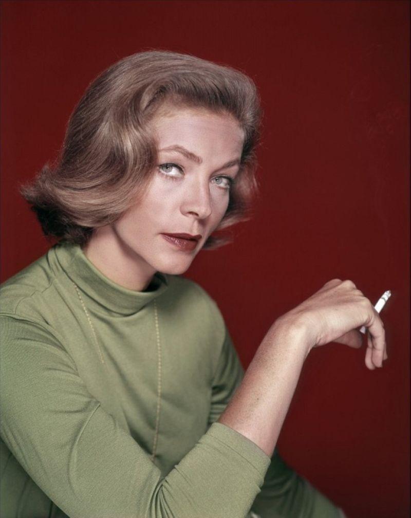 Lauren Bacall colour cigarette