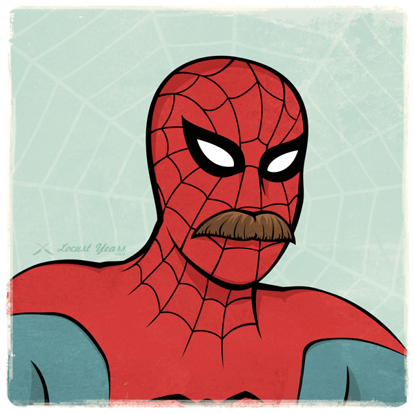 Spider Man with a mustache