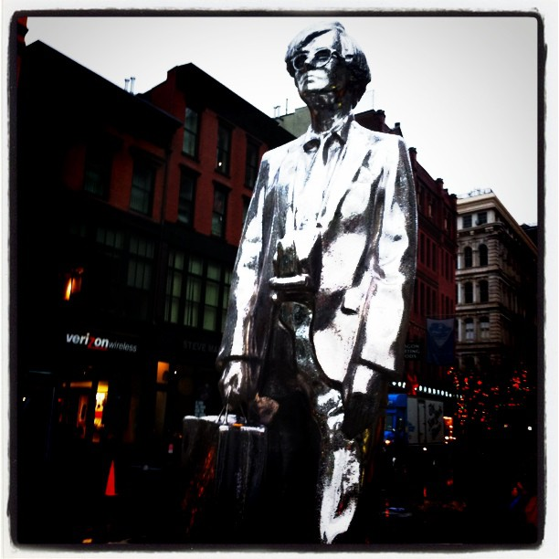 Andy Warhol in Union Square John Gushue photo November 2011