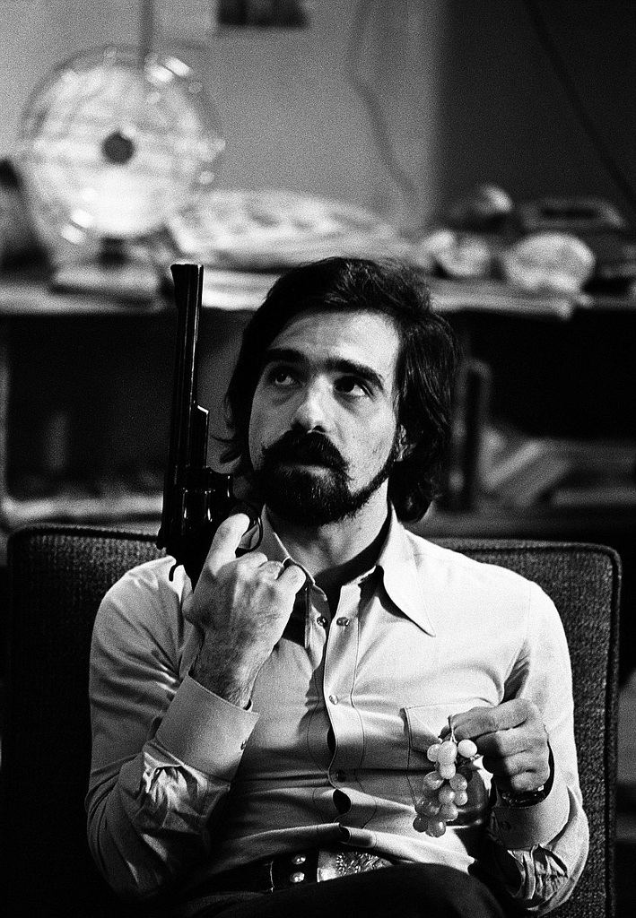 Martin Scorsese with guns and grapes