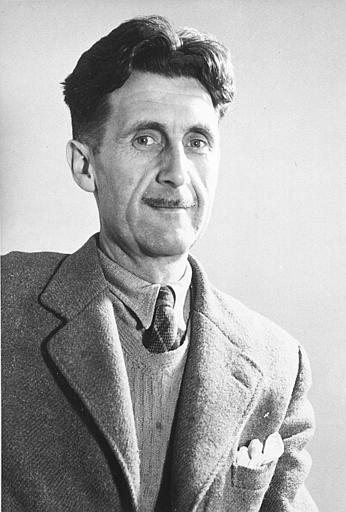 George Orwell with jacket sweater and tie