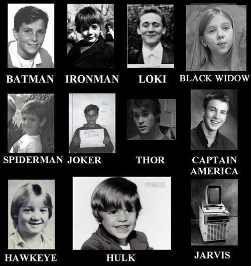 When superheroes were kids