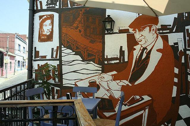 Pablo Neruda mural