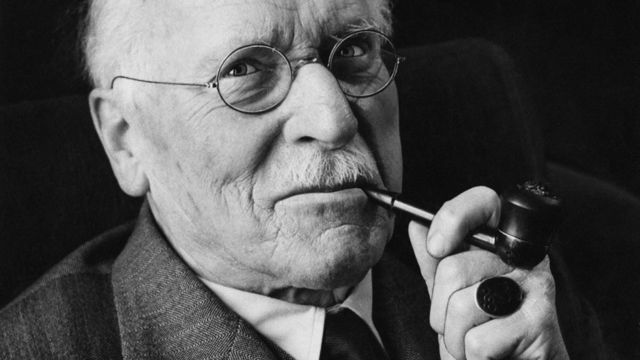 Carl Jung with pipe
