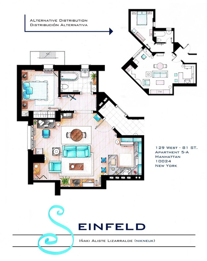 Jerry Seinfeld apartment layout