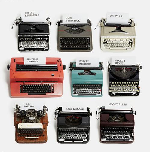 Who used what typewriter