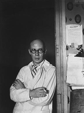 Henry Miller in doorway