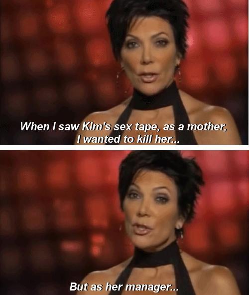 Kim Kardashian's mom and manager