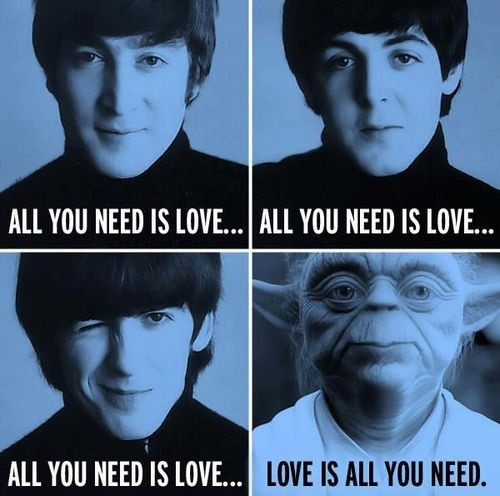 Yoda sings all you need is love