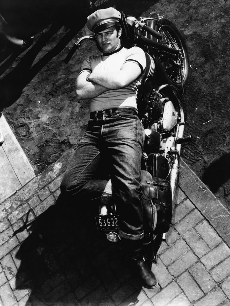 Marlon Brando jeans tshirt wild ones