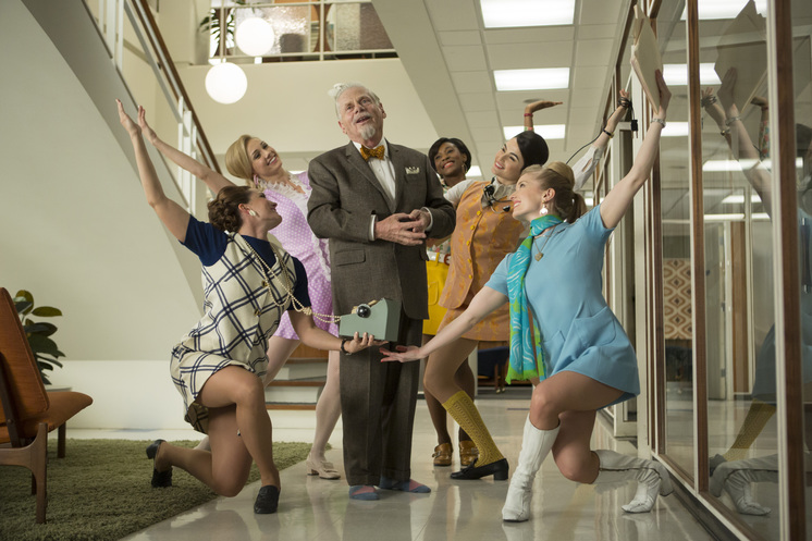 Bert Cooper dancing Mad Men season 7 Waterloo