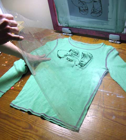how to silkscreen a shirt john gushue dot dot dot