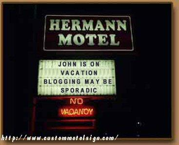 John_is_on_vacation_motel_sign